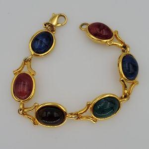 Liz Claiborne Multi Colored Links Bracelet